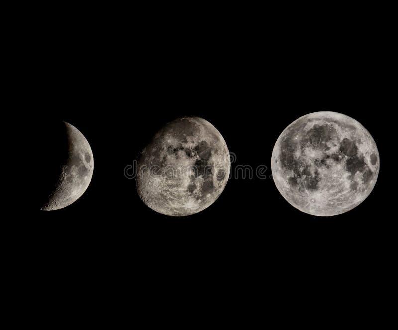 Fases da lua foto de stock royalty free