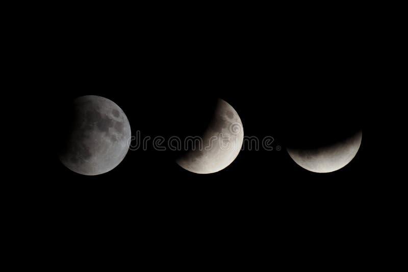 fases de um eclipse da lua foto de stock royalty free