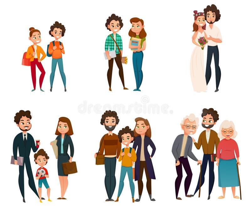 Fases do desenvolvimento da família ilustração royalty free