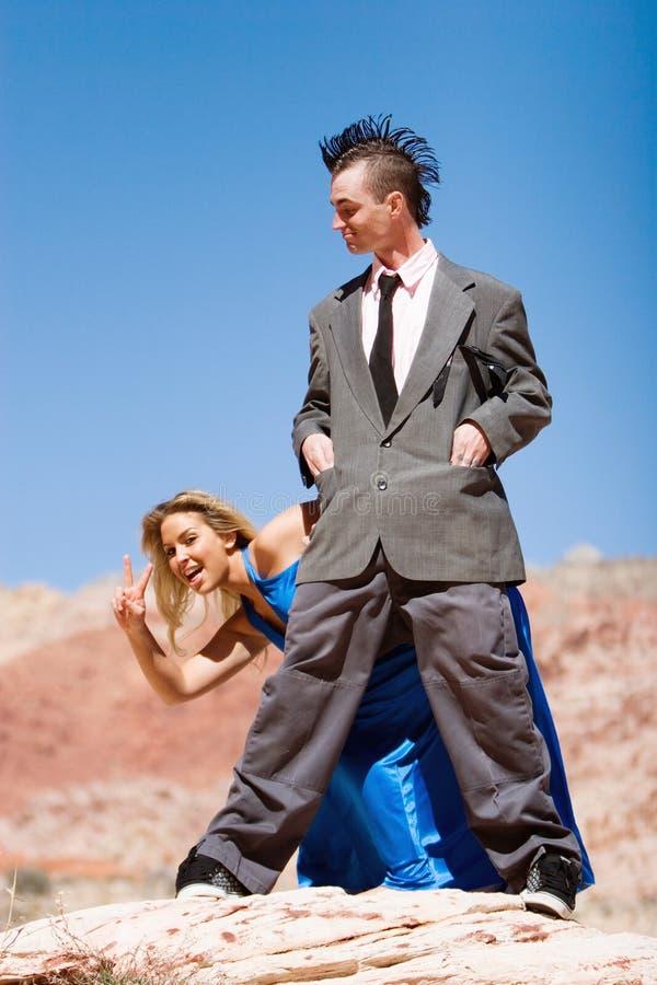 Fashinable attraktive Paare stockfoto