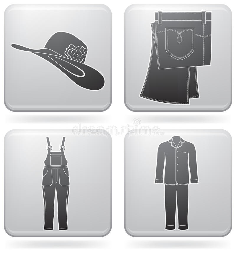 Download Fashion stock vector. Illustration of overalls, outlines - 15596495