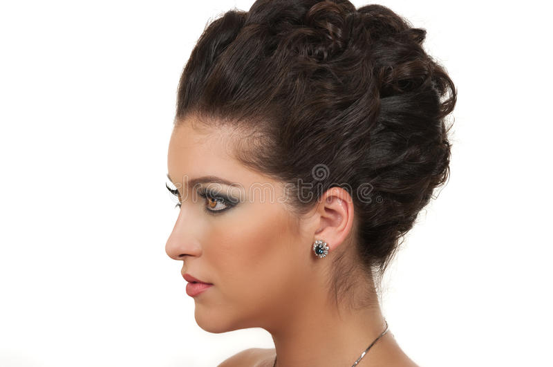 Download Fashion stock image. Image of earring, updo, cosmetic - 20760483
