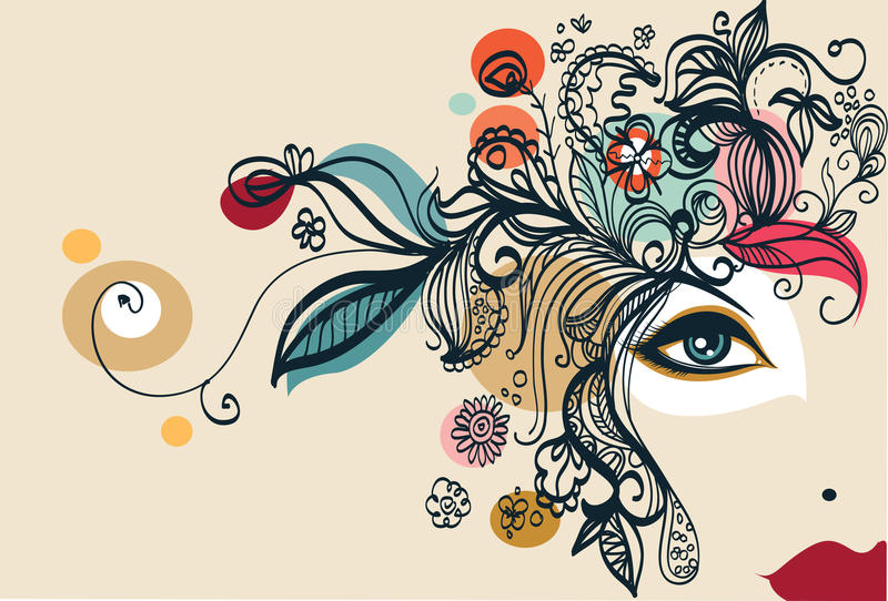 Download Fashion abstract stock illustration. Illustration of illustration - 12547910