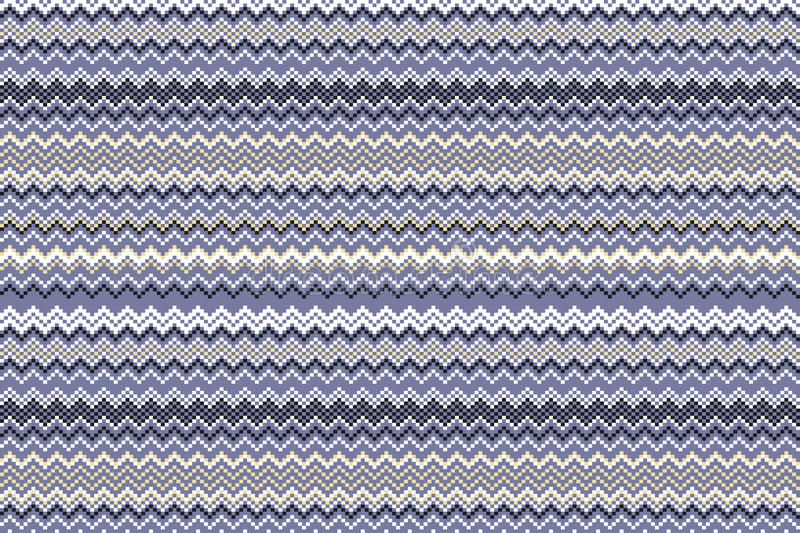 Fashion abstract geometrical chevron pattern. Seamless vector background. blue. beige. violet stock illustration