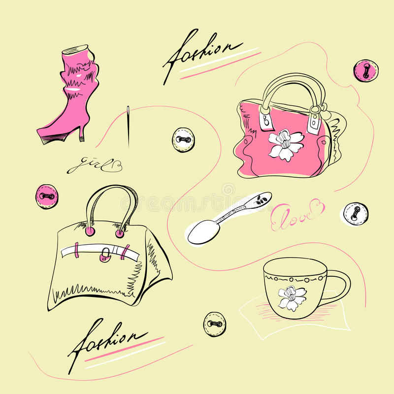 Download Fashion accessories stock vector. Illustration of heels - 21084838