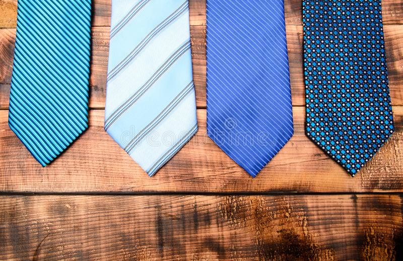 Fashion accessory. Business detail. necktie for real men. Modern formal style. vintage. retro style. Groom wedding. male stock image