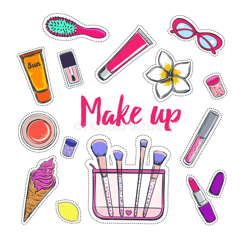 Free Fashion And Beauty Vector Stickers 2 Stock Photography - 111484252