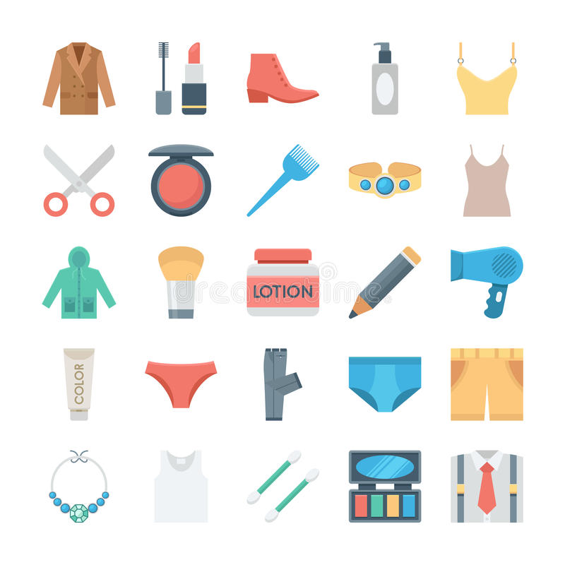 Free Fashion And Clothes Vector Icons 2 Royalty Free Stock Photography - 77652447