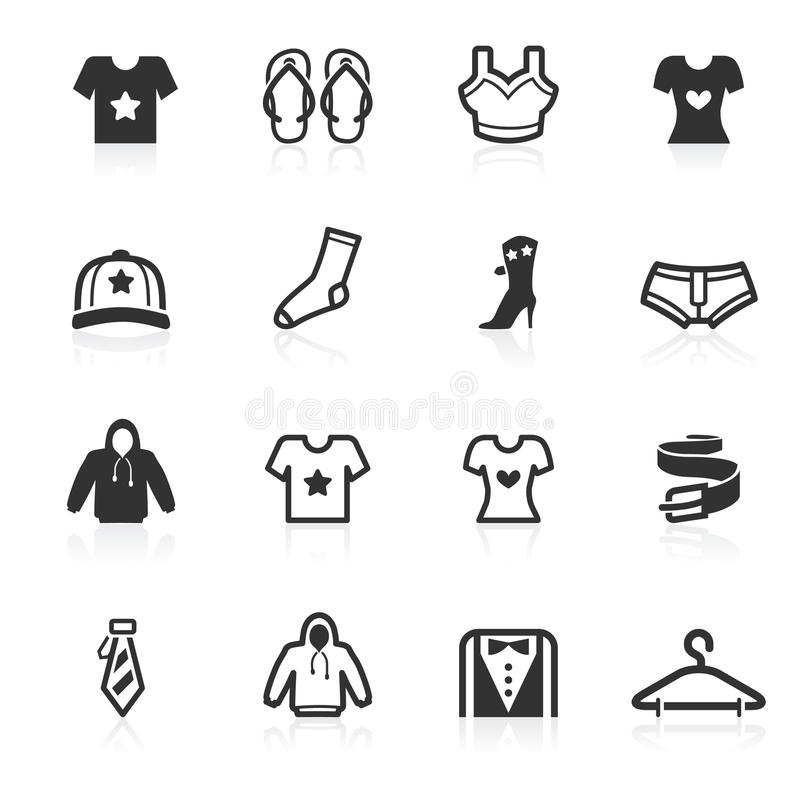 Free Fashion & Apparel Icons - Minimo Series Stock Photography - 15323302