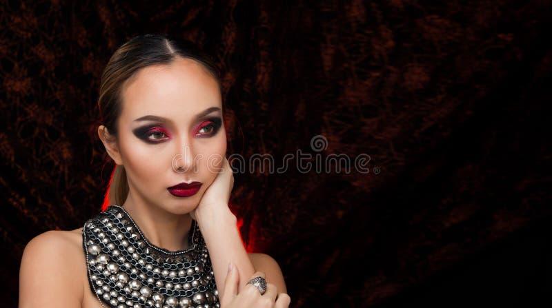Fashion Asian Woman blonde black hair beautiful royalty free stock photography
