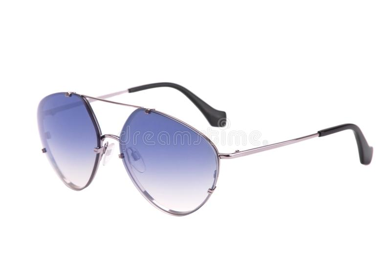 Fashion Aviator Glasses on a White Background royalty free stock image