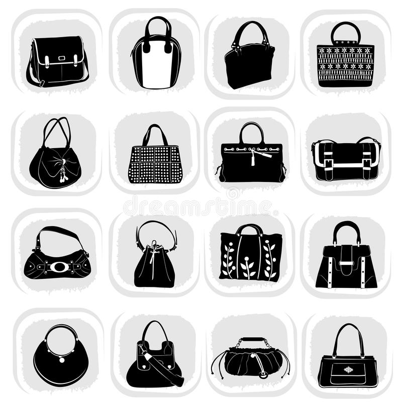 Fashion bag set royalty free illustration