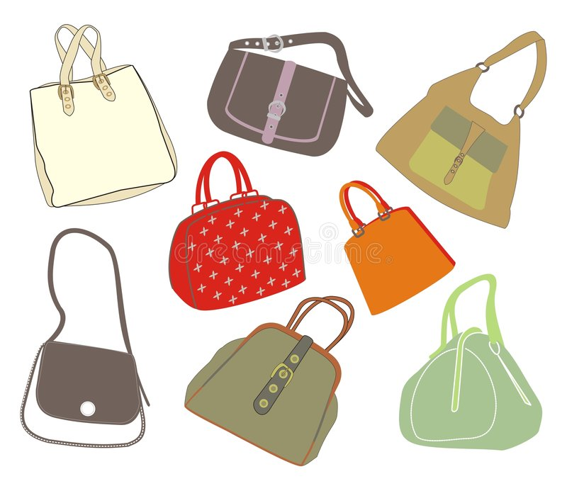 Fashion bags royalty free illustration