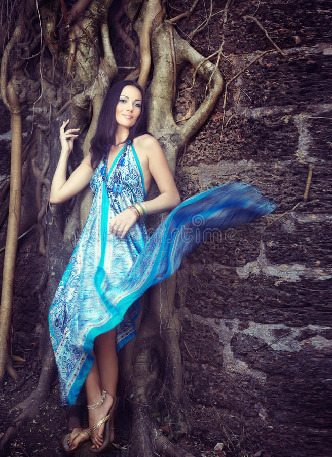 Download Fashion at the banyan stock photo. Image of model, grace - 15771040
