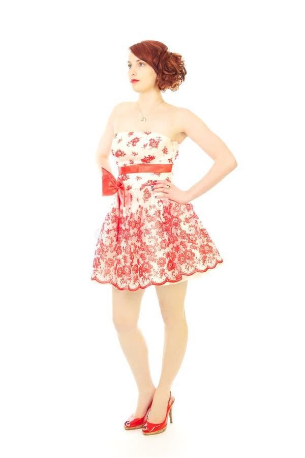 Fashion beauty 50s style stock photo