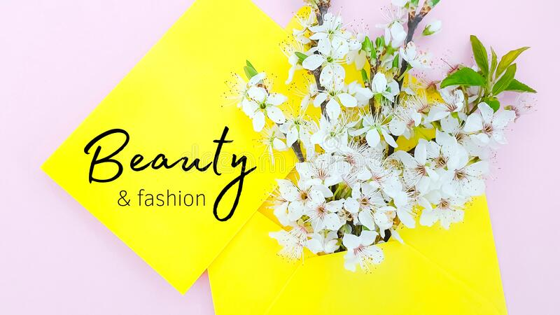 Fashion and beauty blog. Blogging shop stock image
