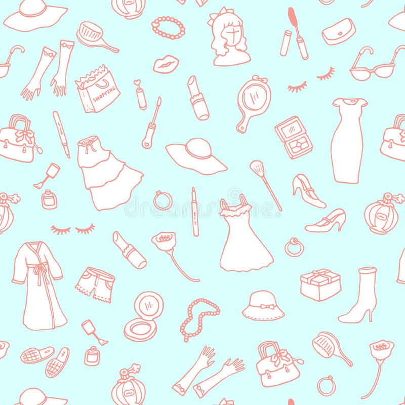 Fashion and Beauty Freehand Pattern. stock image