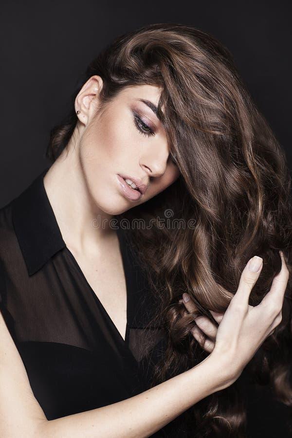 Fashion Beauty Girl. Gorgeous Woman Portrait. royalty free stock photography
