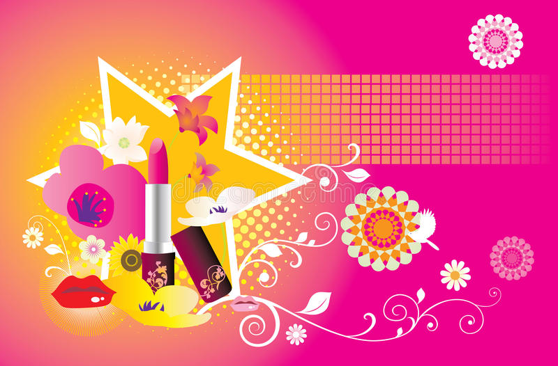 Download Fashion beauty items stock vector. Image of lipstick - 11129273