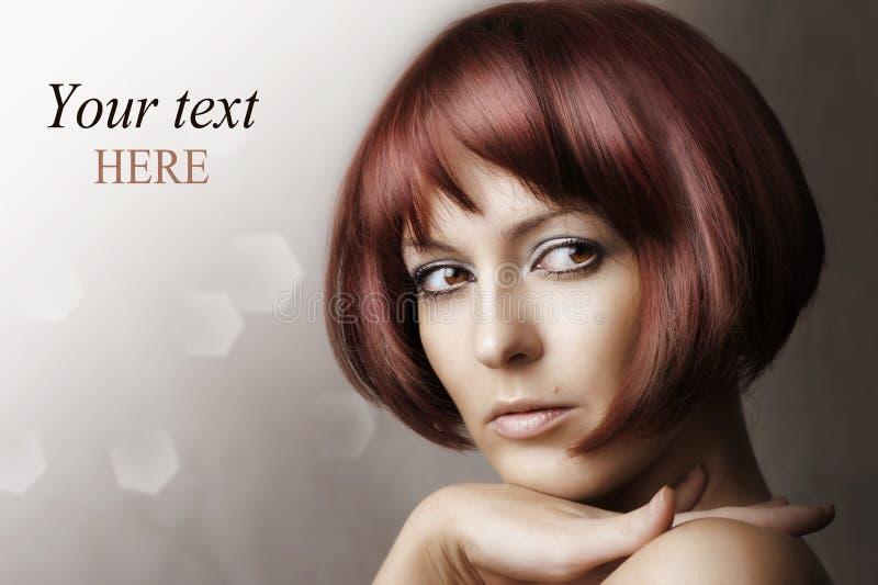 Fashion beauty portrait of glamour woman stock photography