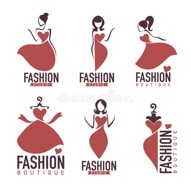 Fashion and beautysalon, studio, boutique logo stock illustration