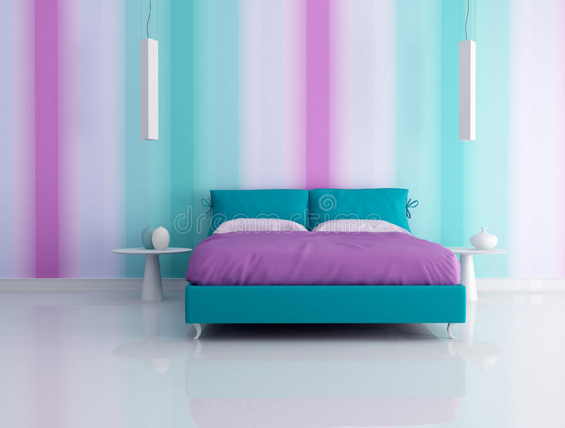 Fashion bedroom royalty free stock photo