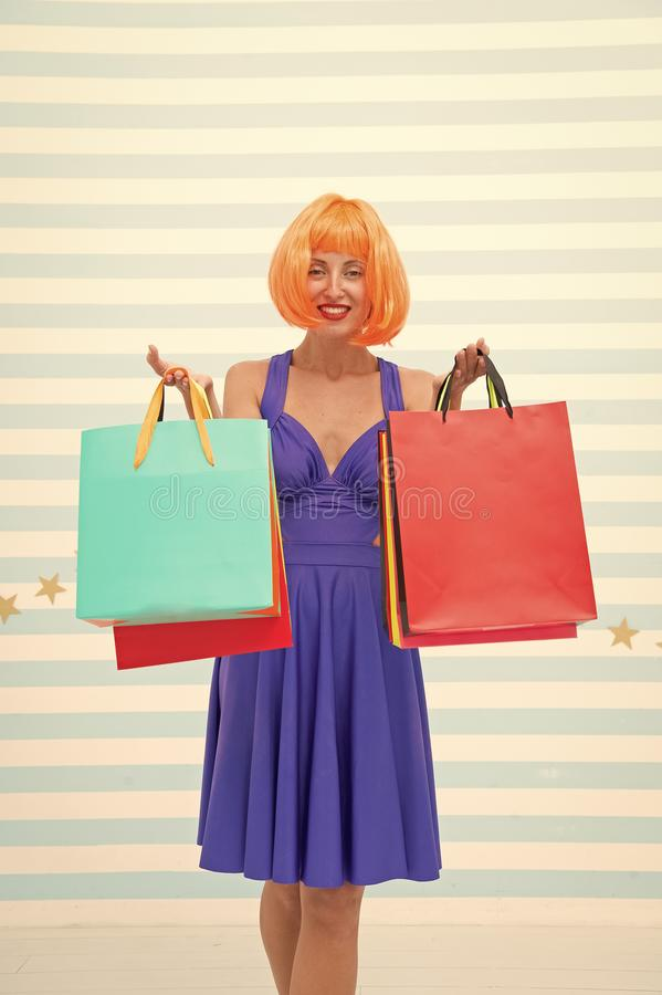 Fashion. Black Friday sales. happy woman go shopping. Crazy girl with shopping bags. Happy shopping online. Happy. Holidays. Last preparations. big sale in royalty free stock photos