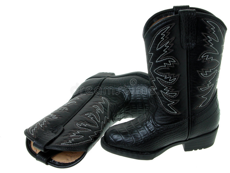 Fashion: Black Toddler Cowboy Boots (1 of 2) royalty free stock photo