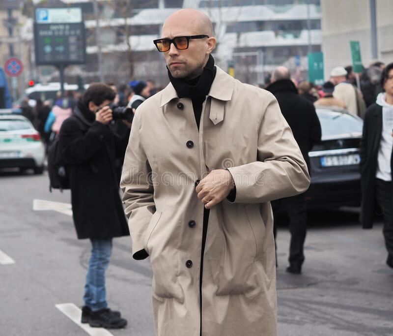 MILAN, Italy: 14 January 2020:  Fashion blogger street style outfit royalty free stock images