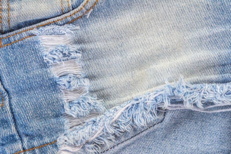 Fashion blue denim shorts royalty free stock photography