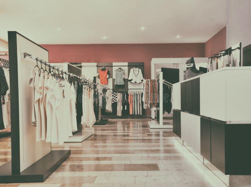 Fashion boutique. With clothing retro image stock photography