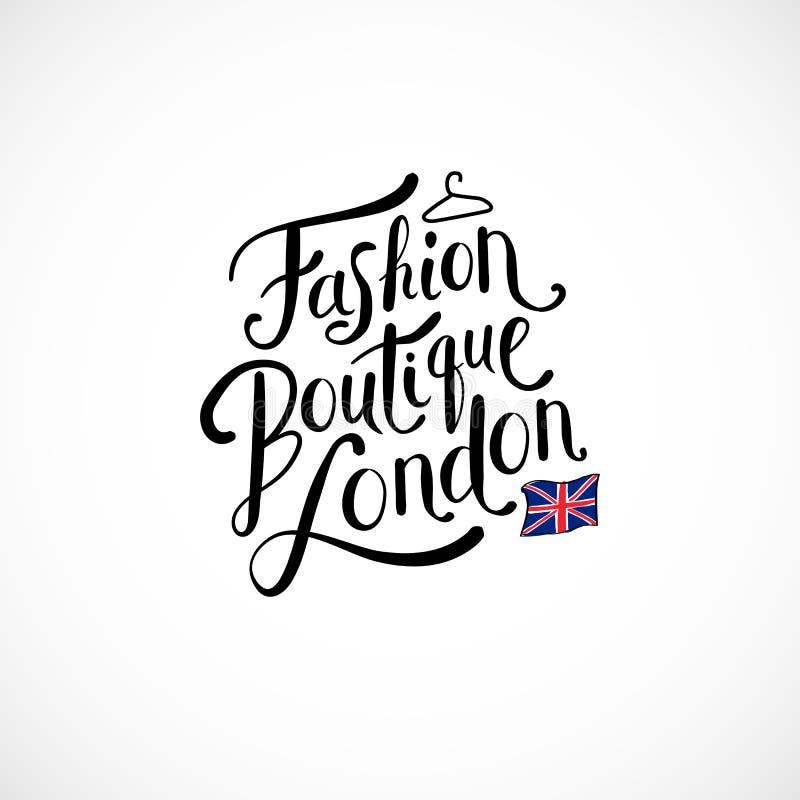 Fashion Boutique London Concept on White vector illustration