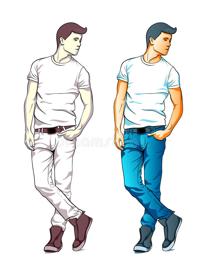 Download Fashion boy stock vector. Image of cool, relaxed, fashionable - 28688547