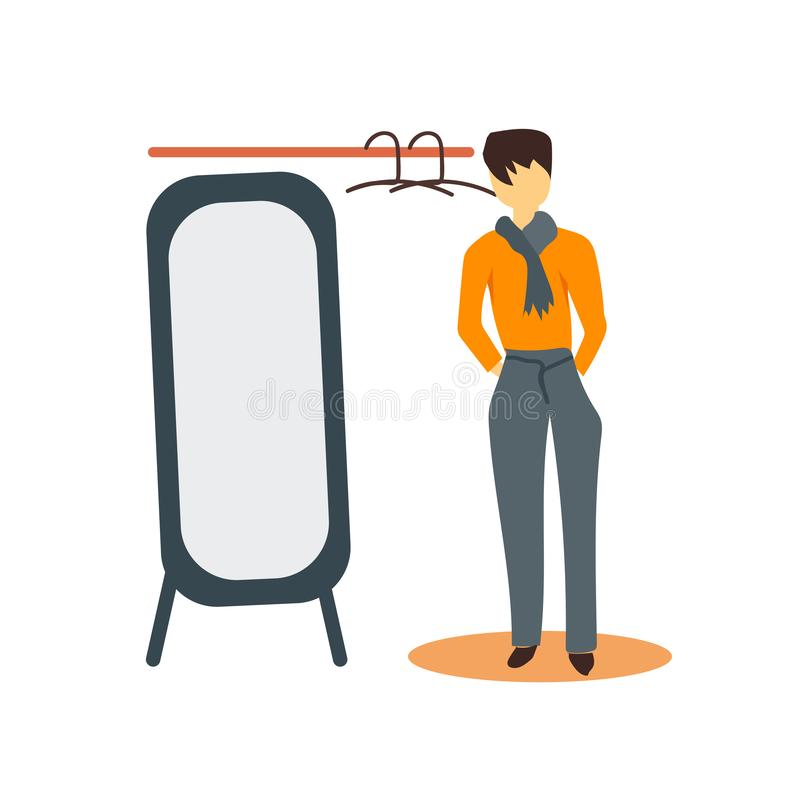 Free Fashion Boy Looking To The Mirror Vector Vector Sign And Symbol Isolated On White Background, Fashion Boy Looking To The Mirror Royalty Free Stock Image - 134067996