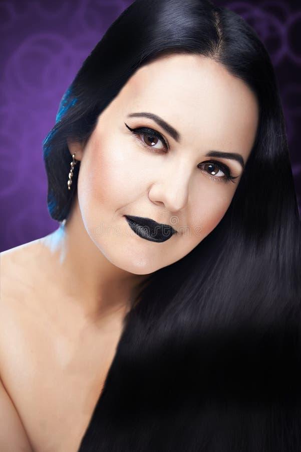 Fashion Brunette Model Portrait. royalty free stock images