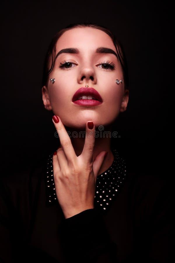 Fashion Brunette Model Portrait royalty free stock images