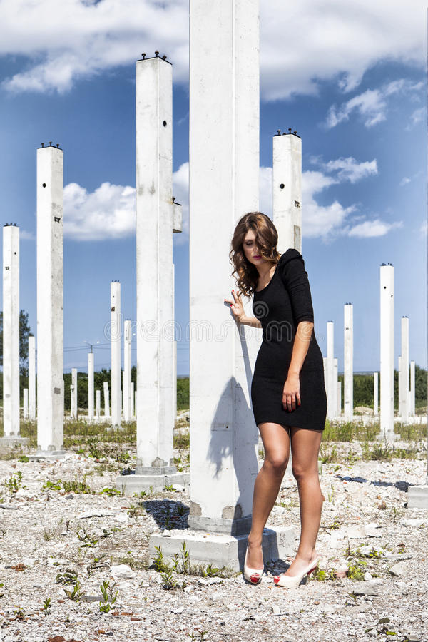 Fashion on building construction royalty free stock photo