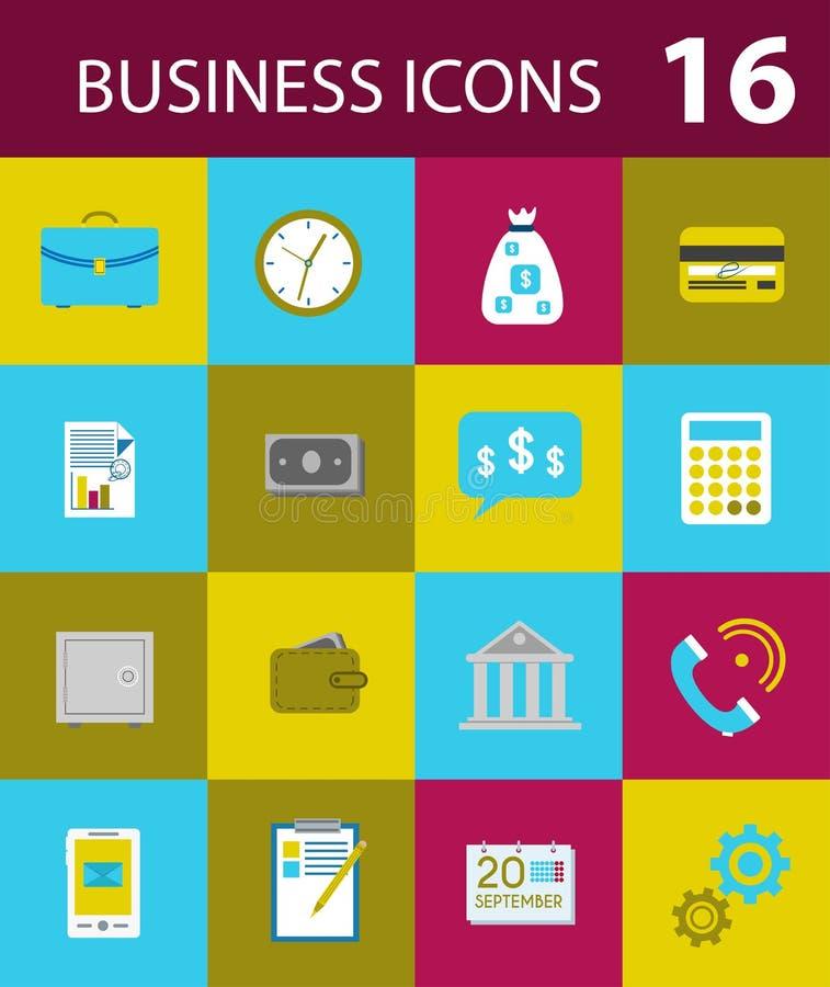 Fashion business icons style flat. stock image
