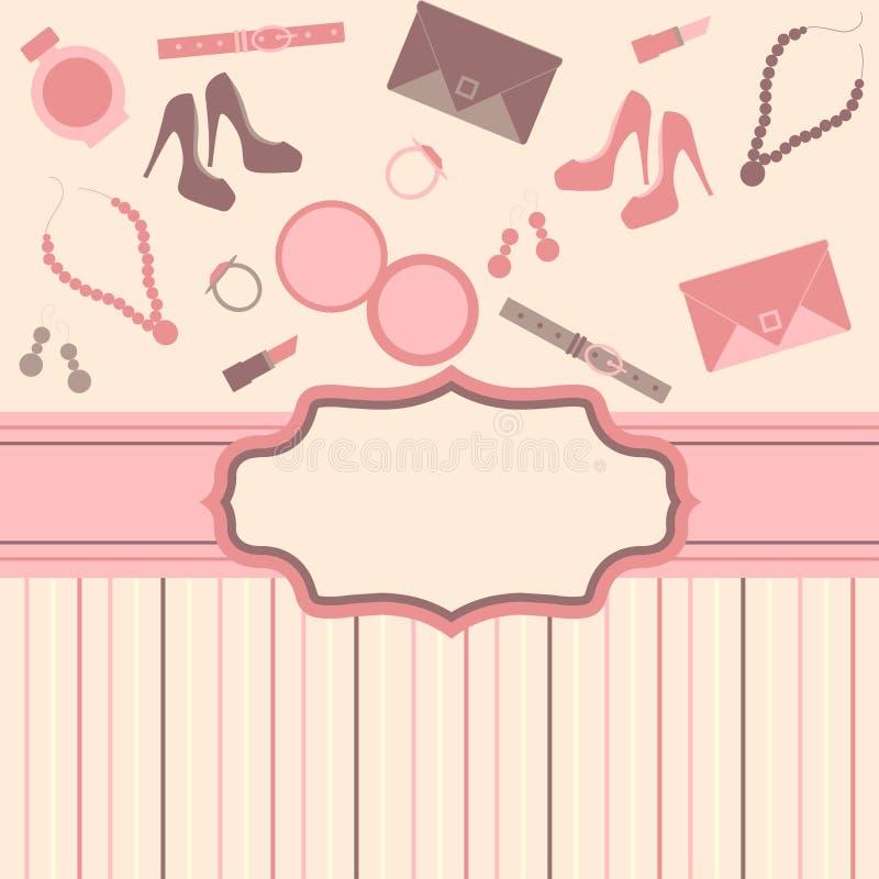 Fashion card background royalty free illustration