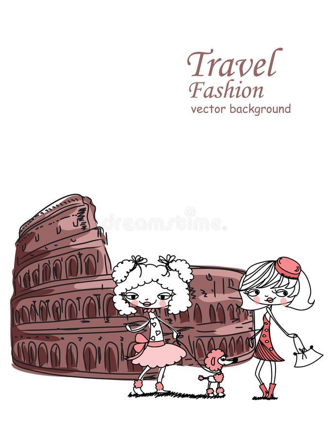 Download Fashion Cartoon Girl Travels,vector Stock Vector - Image: 23414795