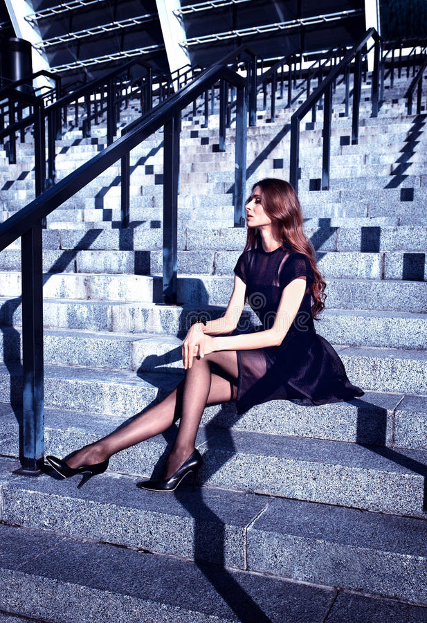 Fashion in the city stock photography