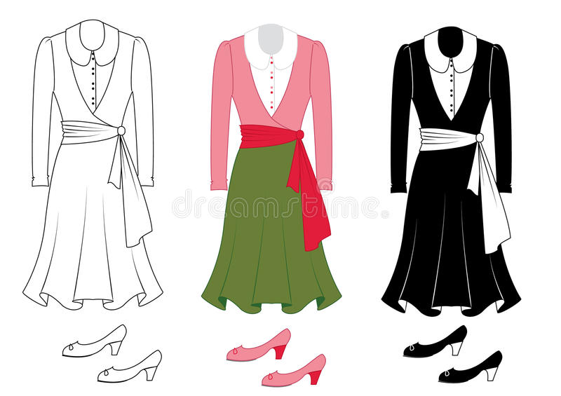 Fashion clothes and shoes stock photo