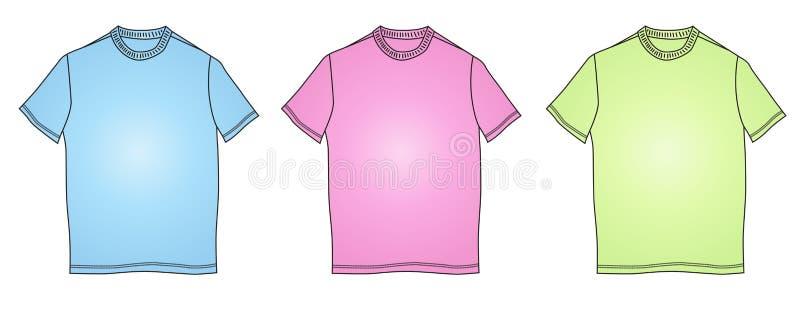 Fashion clothes t-shirt shapes illustration royalty free stock photography