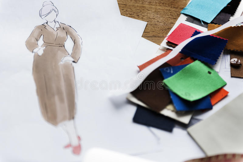 Fashion Clothing Design Drawing concept stock photo