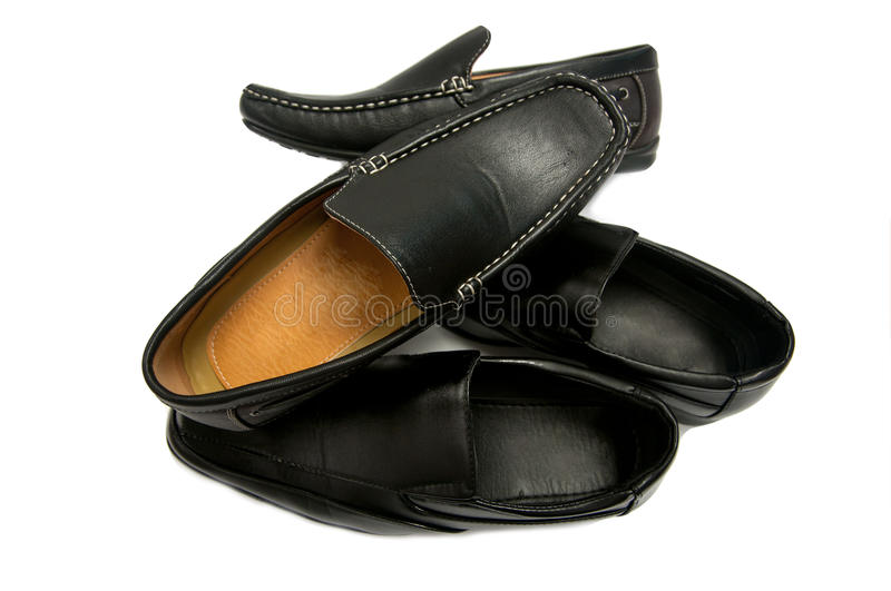 Fashion concept with male shoes stock photo