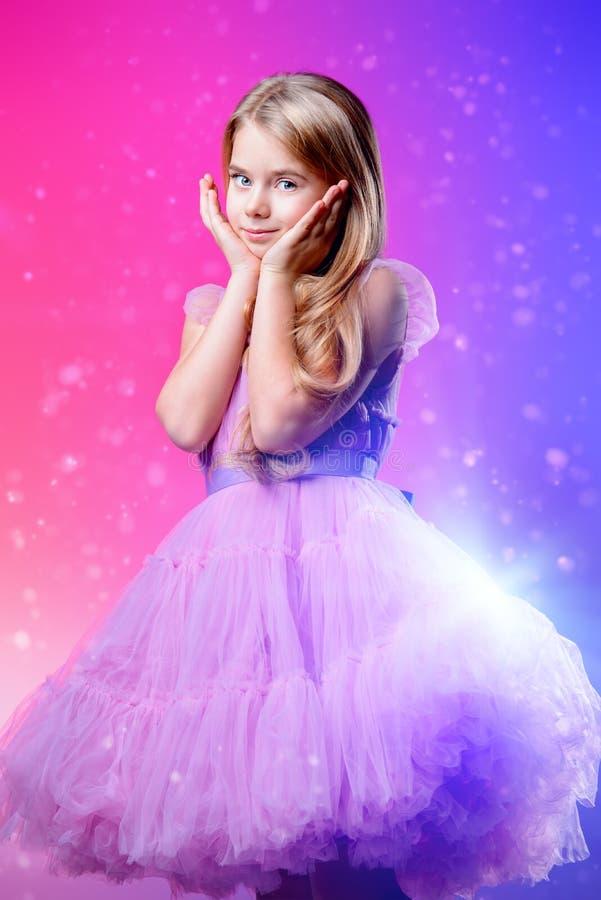 Beautiful cute girl stock photo