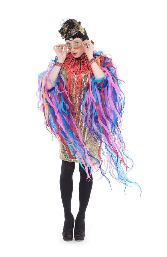 Fashion conscious drag queen stock image