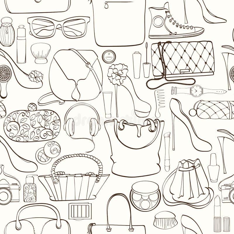 Fashion cosmetic pattern royalty free illustration
