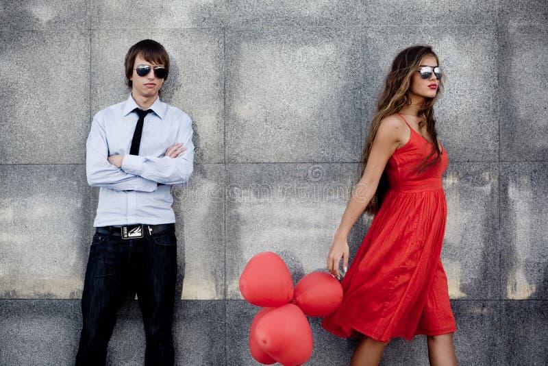 Fashion couple stock photos