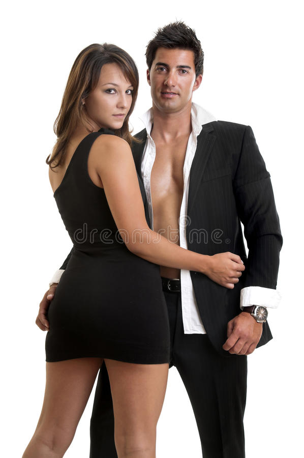 Fashion couple stock image